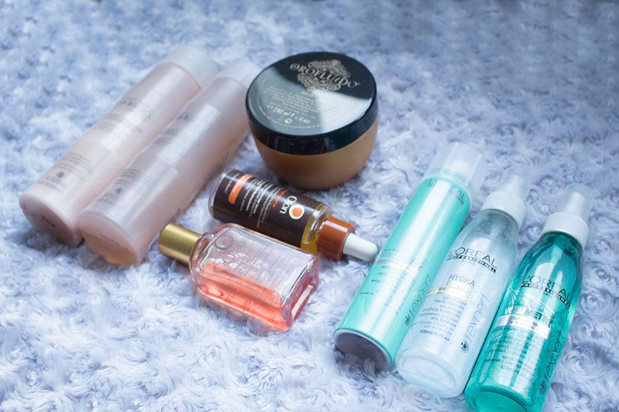 Ma routine capillaire pour mes cheveux fins et bouclés : Orofluido, Revlon, L'Oréal Professionnel, Ojon et Alterna...