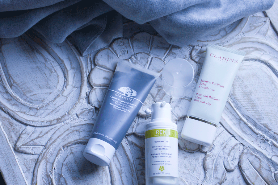 Mes masques purifiants du moment : Origins, Clarins et REN.