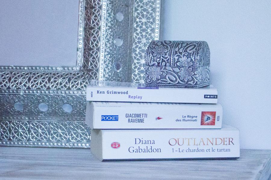 Mon avis sur mes dernières lectures : Le Règne des illuminati, Outlander et Replay...