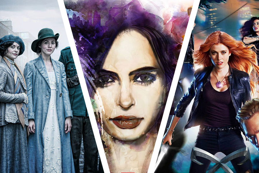 Séries : Shadowhunters, Jessica Jones et Rebellion.